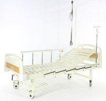 Кровать c механ.приводом Belberg 17B-1Л, 1 функция ПЛАСТИК (без матраса+столик)