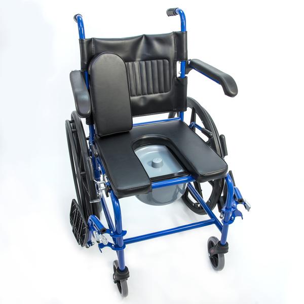 Кресло-коляска HMP-7014KD с санитарным оснащением 3 в 1 (аналог KY790) сидение 43,46 см