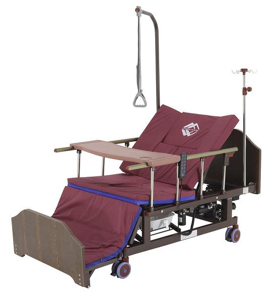 Кровать электрическая Мед-Мос YG-3 (МЕ-5228Н-10) ЛДСП Венге, т/у, кардиокресло, с матрасом
