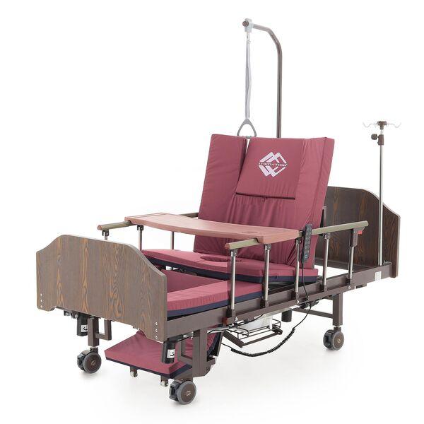 Кровать электрическая Мед-Мос YG-3 (МЕ-5228Н-13) ЛДСП Венге, с боковым переворотом, т/у, кардиокресло, с матрасом