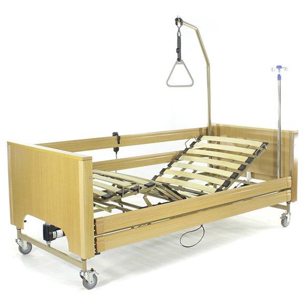 Кровать с электроприводом Belberg 1-4024ДЛК (1-194ДЛК), 5 функций ДЕРЕВО, без матраса