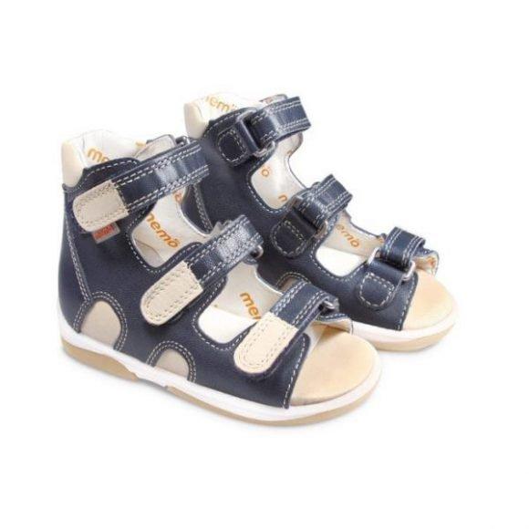 681185c1cdbf71 Детская ортопедическая обувь сандалии MEMO модель APOLLO темно-синий DRMC  3DA кожа