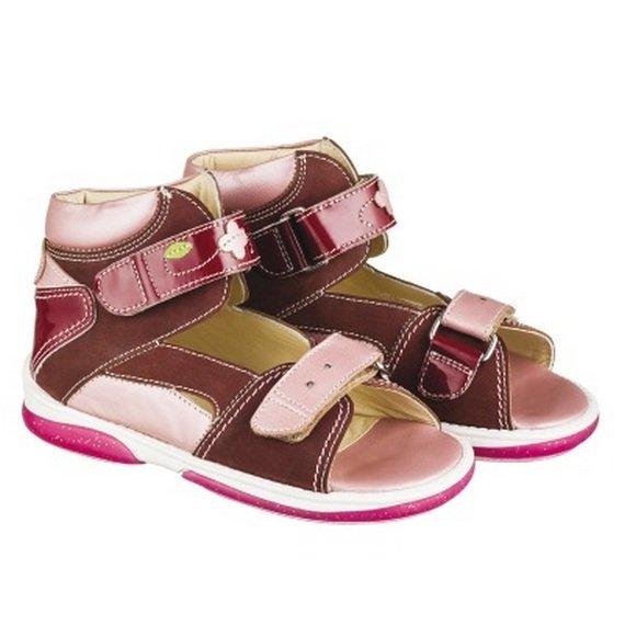 d6130ad01 Детская профилактическая обувь MEMO модель MONACO сандалии бордово-розовый